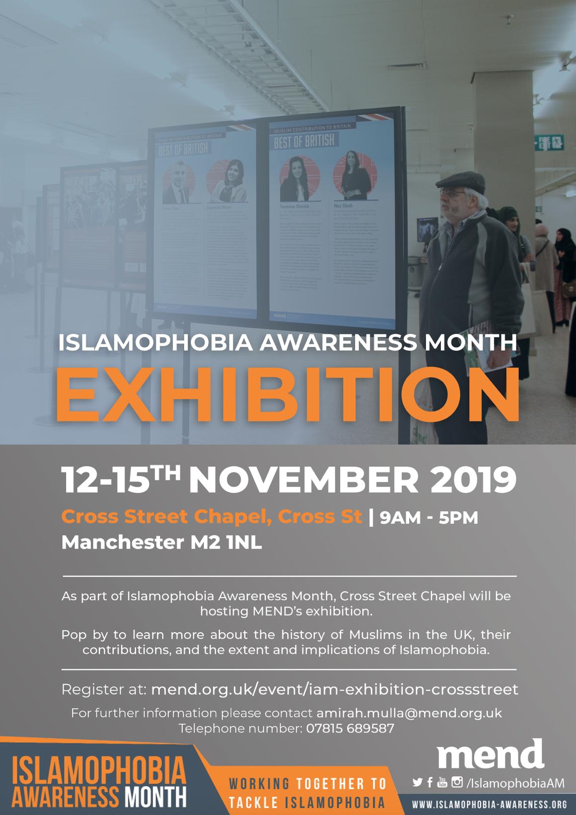 Manchester Muslim Exhibition Poster